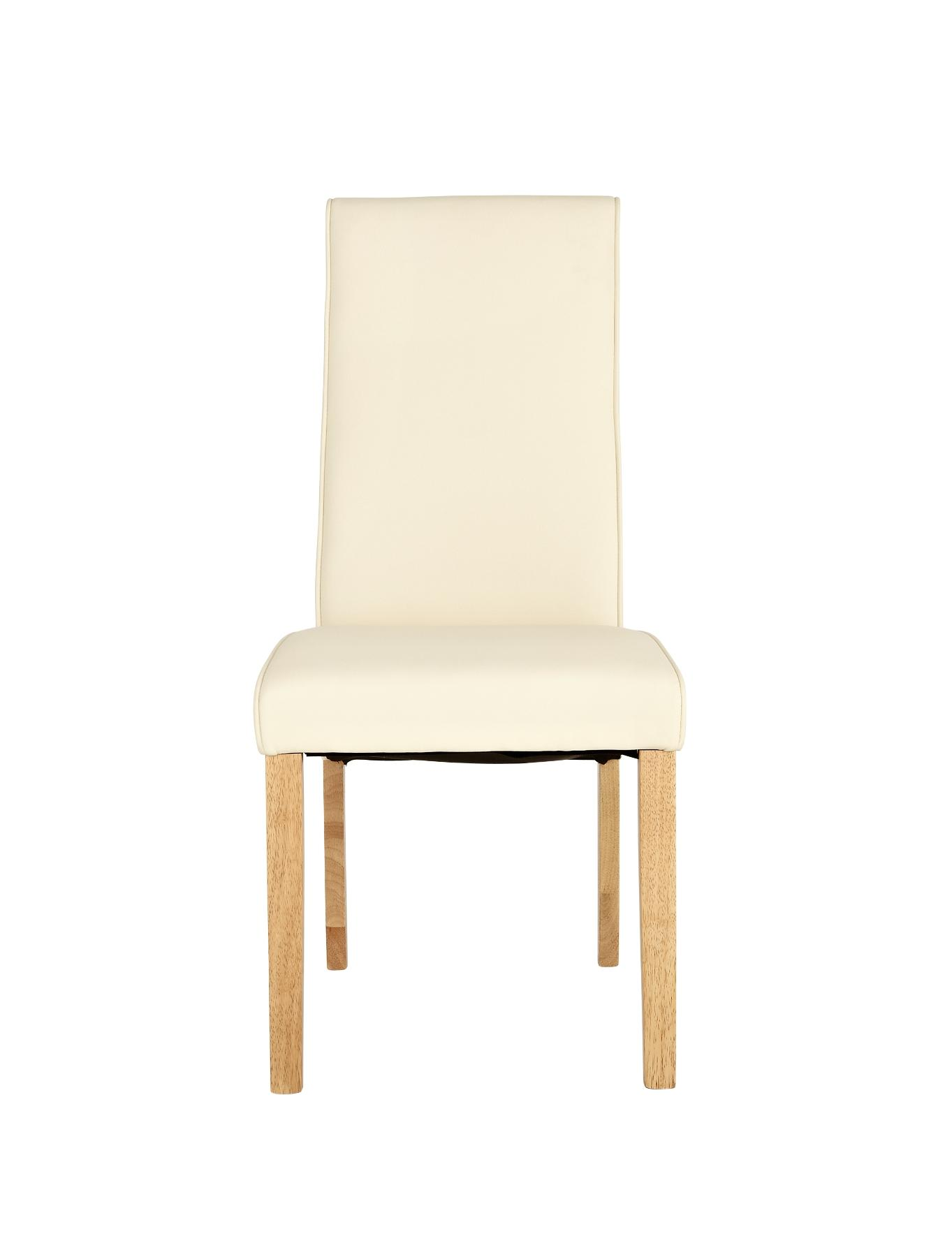 Buckingham Set of 2 Dining Chairs, Cream,Brown