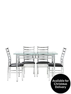 elect-120-cm-glass-and-chrome-dining-table-4-chairs