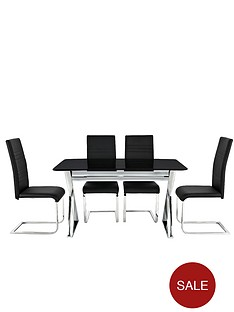 black-cross-frame-table-4-jet-chairs