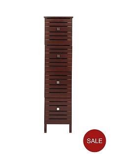 slatted-4-drawer-cabinet-dark-wood