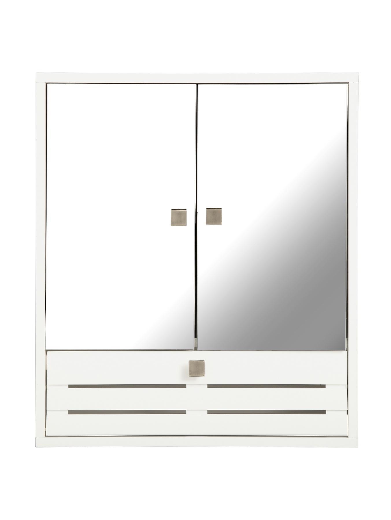slatted 3 door mirrored bathroom cabinet white slatted 3 door mirrored