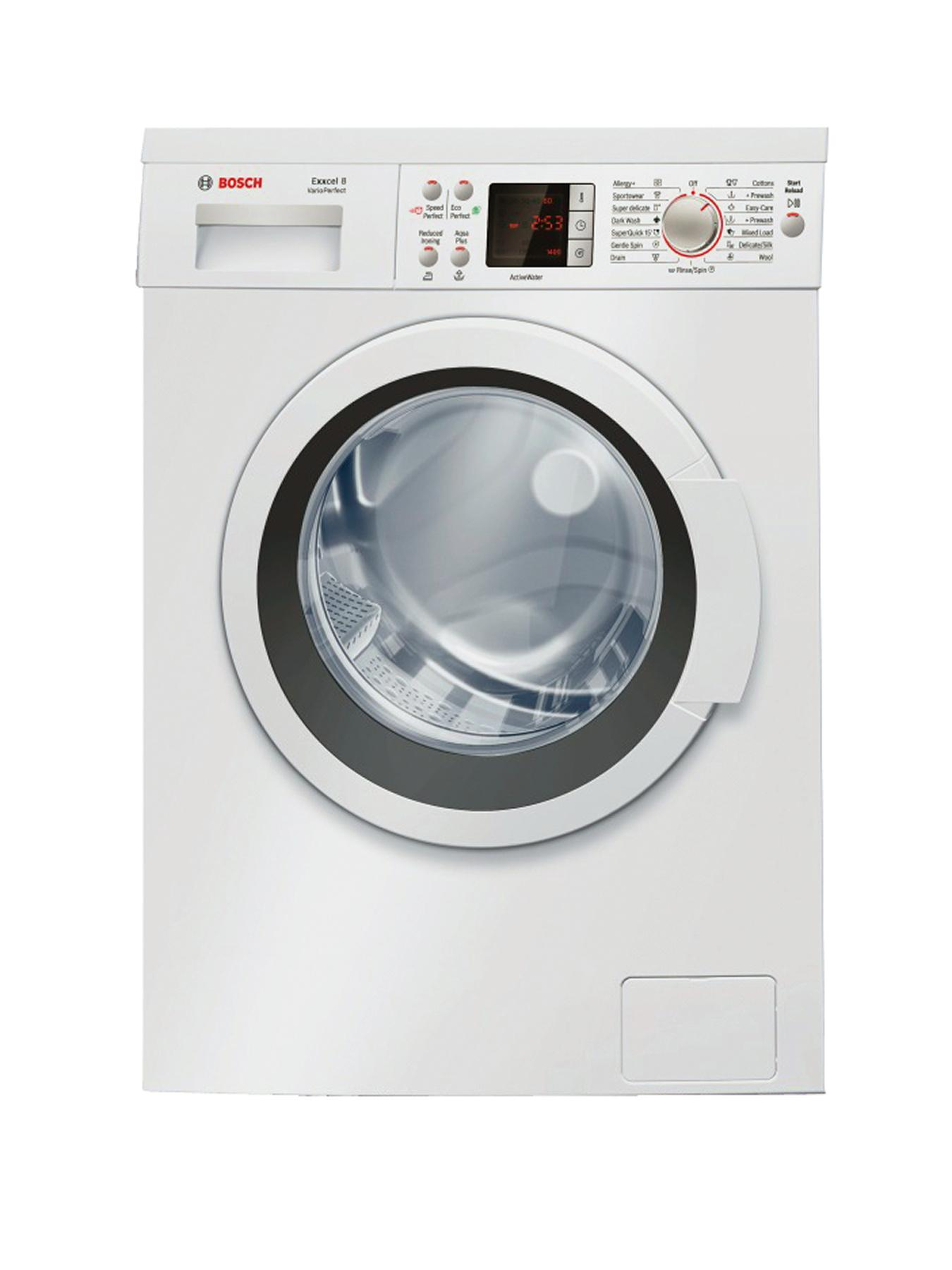 1200 Spin, 8kg Load Washing Machine - White (Next Day Delivery)