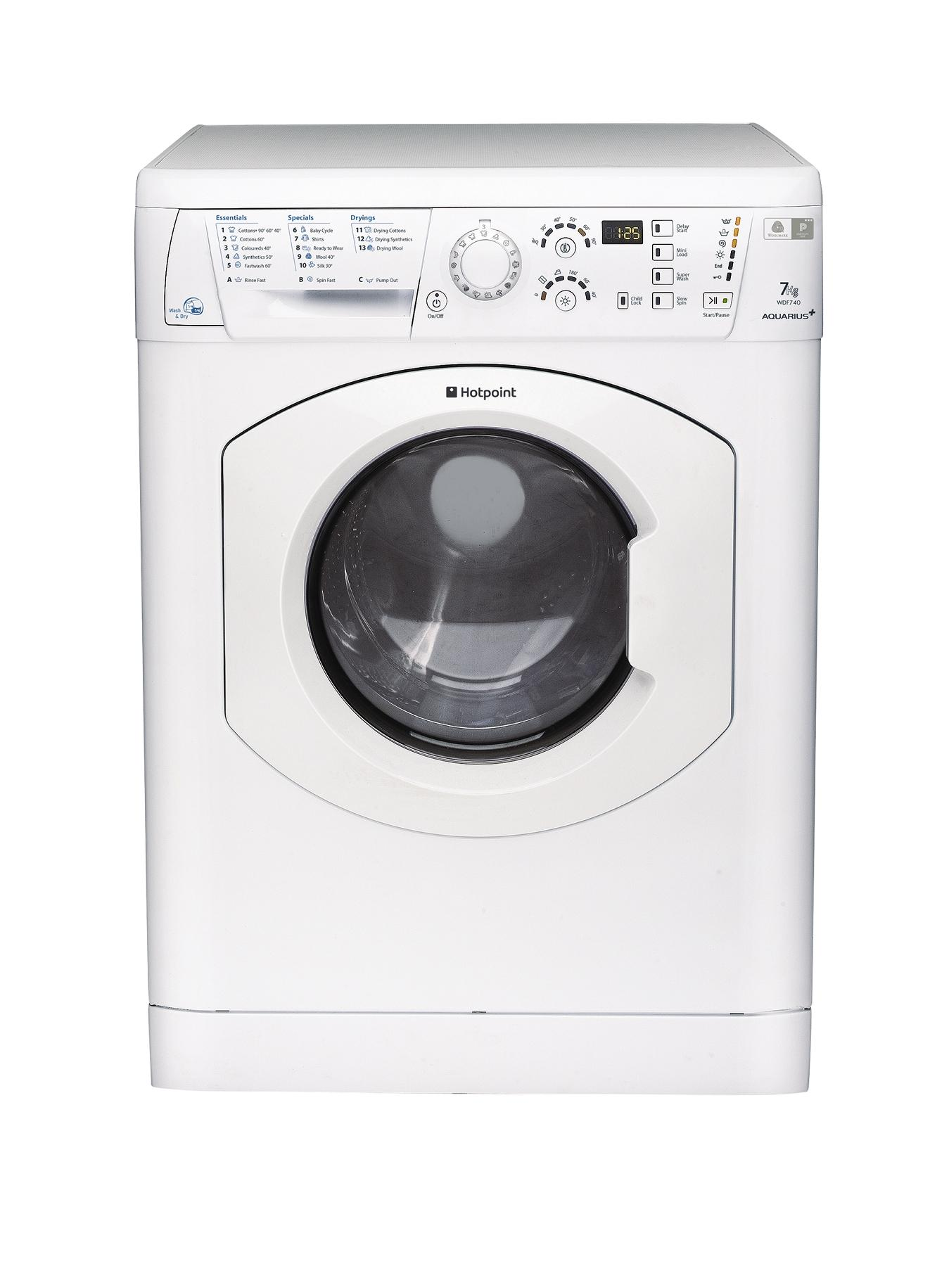 1200 Spin, 7+5kg Load Washer Dryer - Polar