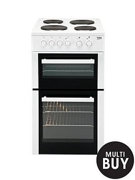 beko-bd533aw-50cm-single-fan-oven-electric-cooker-with-connection-white
