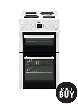 beko-bd555aw-50cm-electric-cooker-with-connection-white