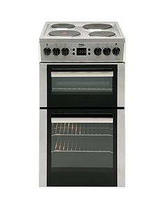 beko-bdv555as-50cm-double-oven-electric-cooker-silver
