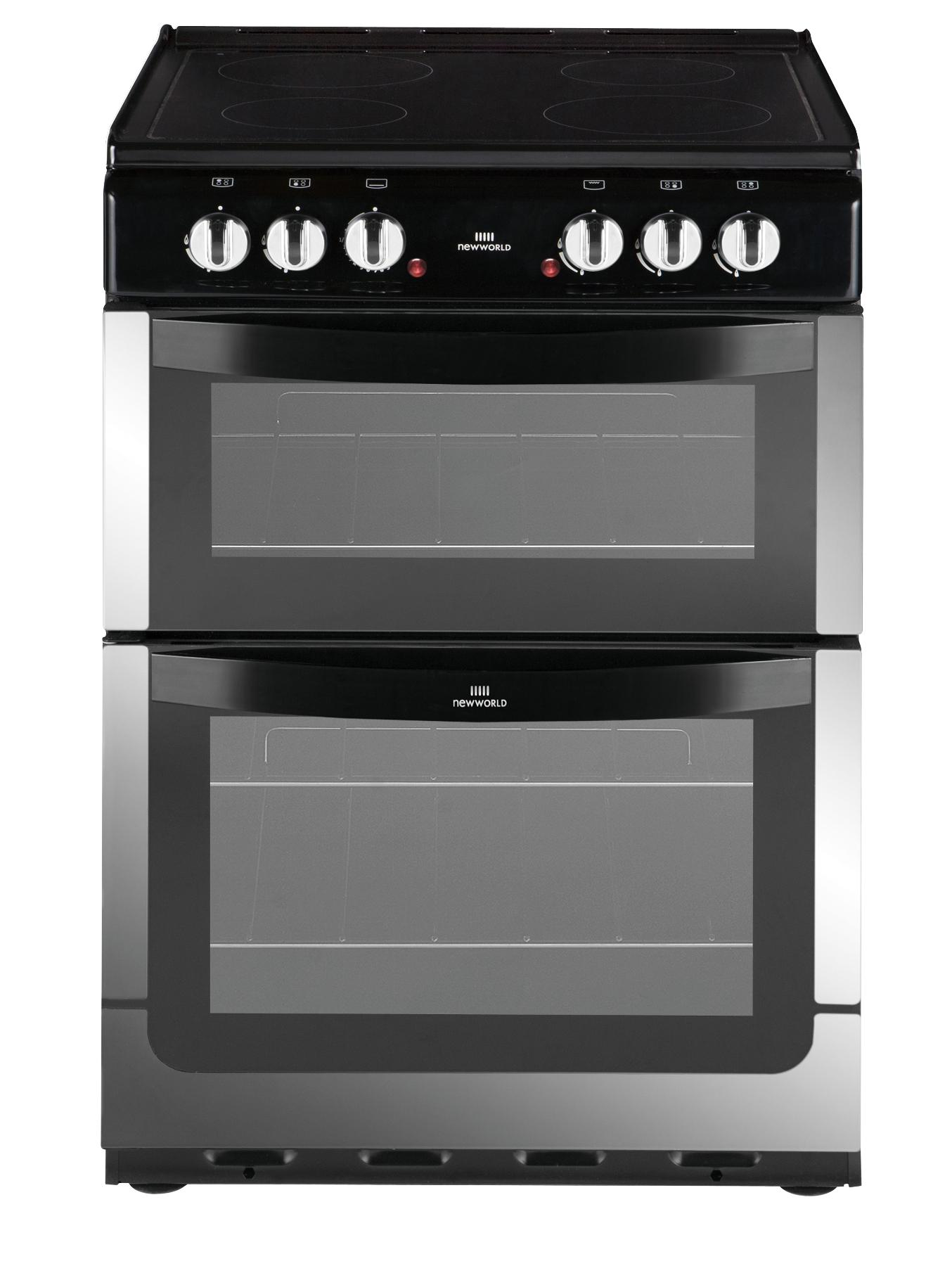 NW601EDO 60cm Double Oven Electric Cooker - Stainless Steel