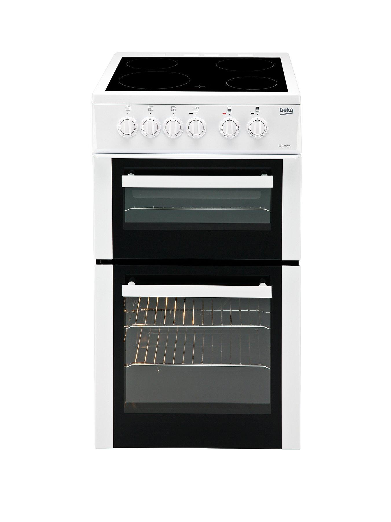 50cm Double Oven Electric Cooker - White