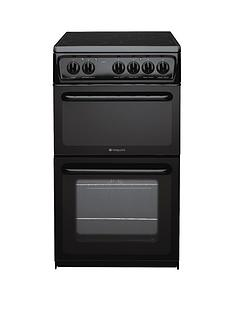 hotpoint-hae51ksl-50cm-twin-cavity-electric-cooker-black
