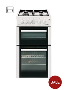 beko-bdg582w-50cm-twin-cavity-gas-cooker-white