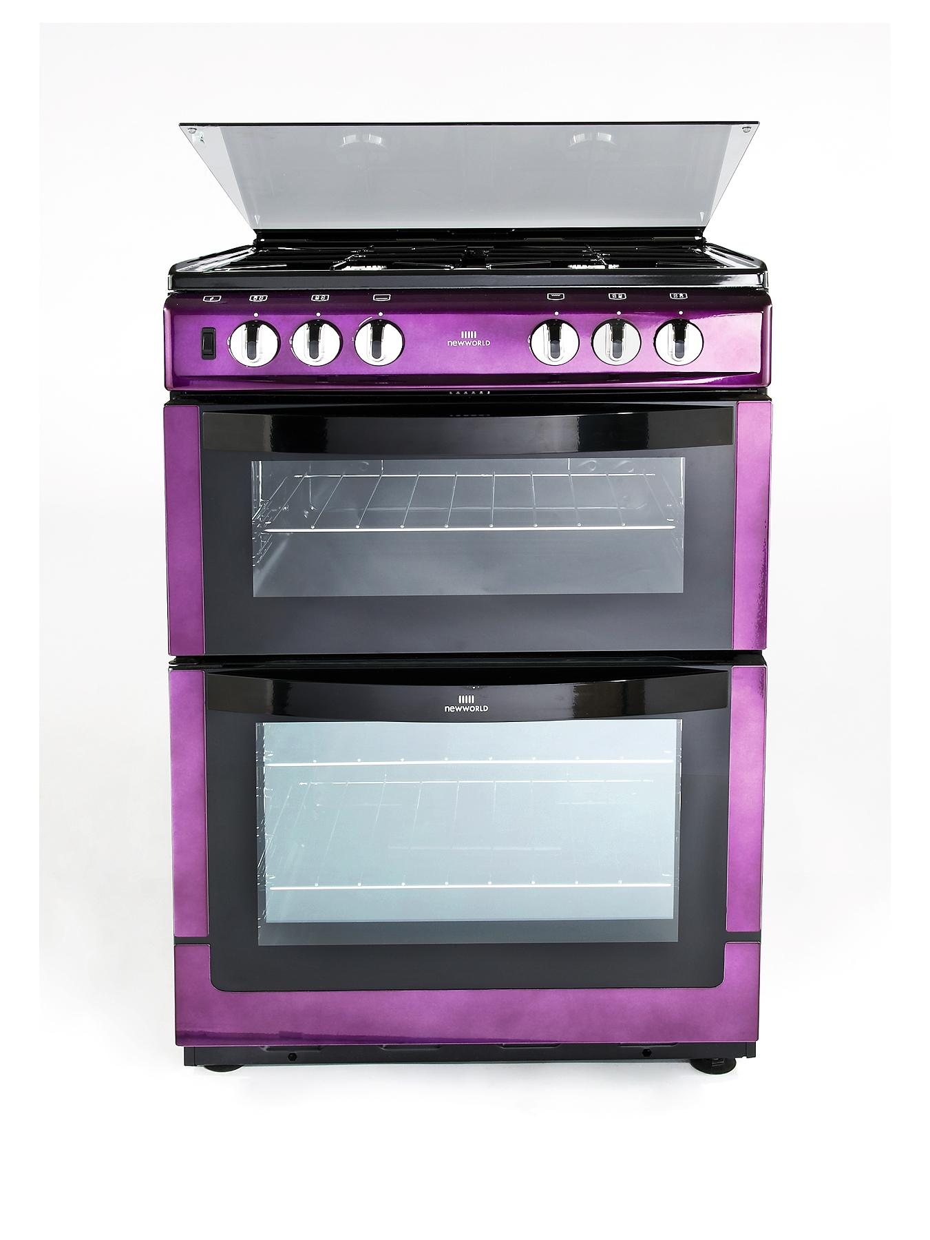 60GDOL 60cm Double Oven Gas Cooker - Purple