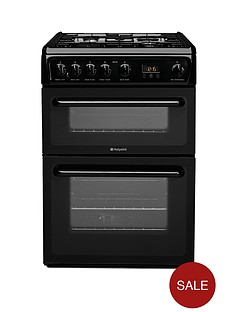 hotpoint-hag60k-60-cm-double-oven-fsd-gas-cooker-black