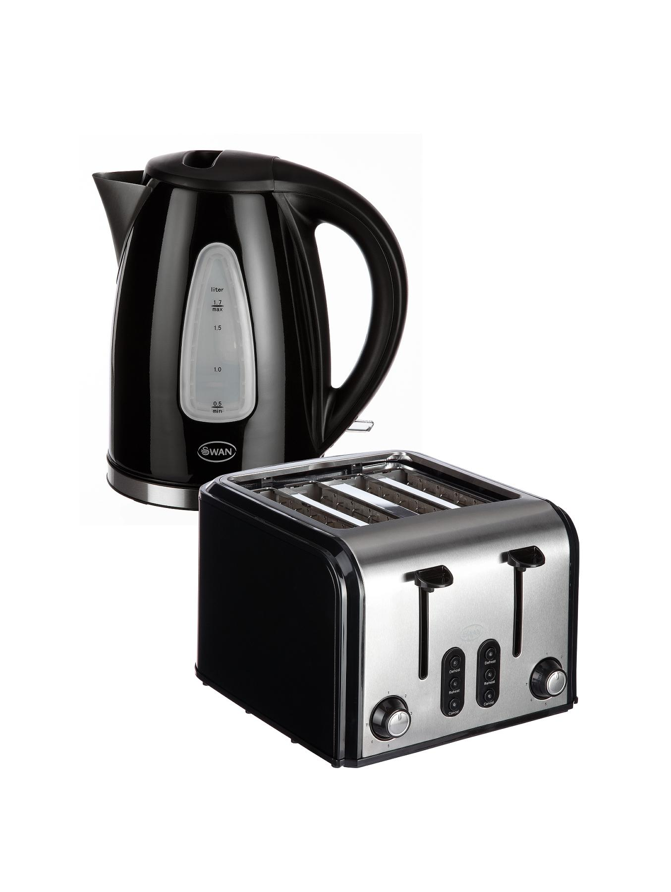 SK13110B/ST70100B Fastboil Kettle and 4-slice Toaster Pack - Black
