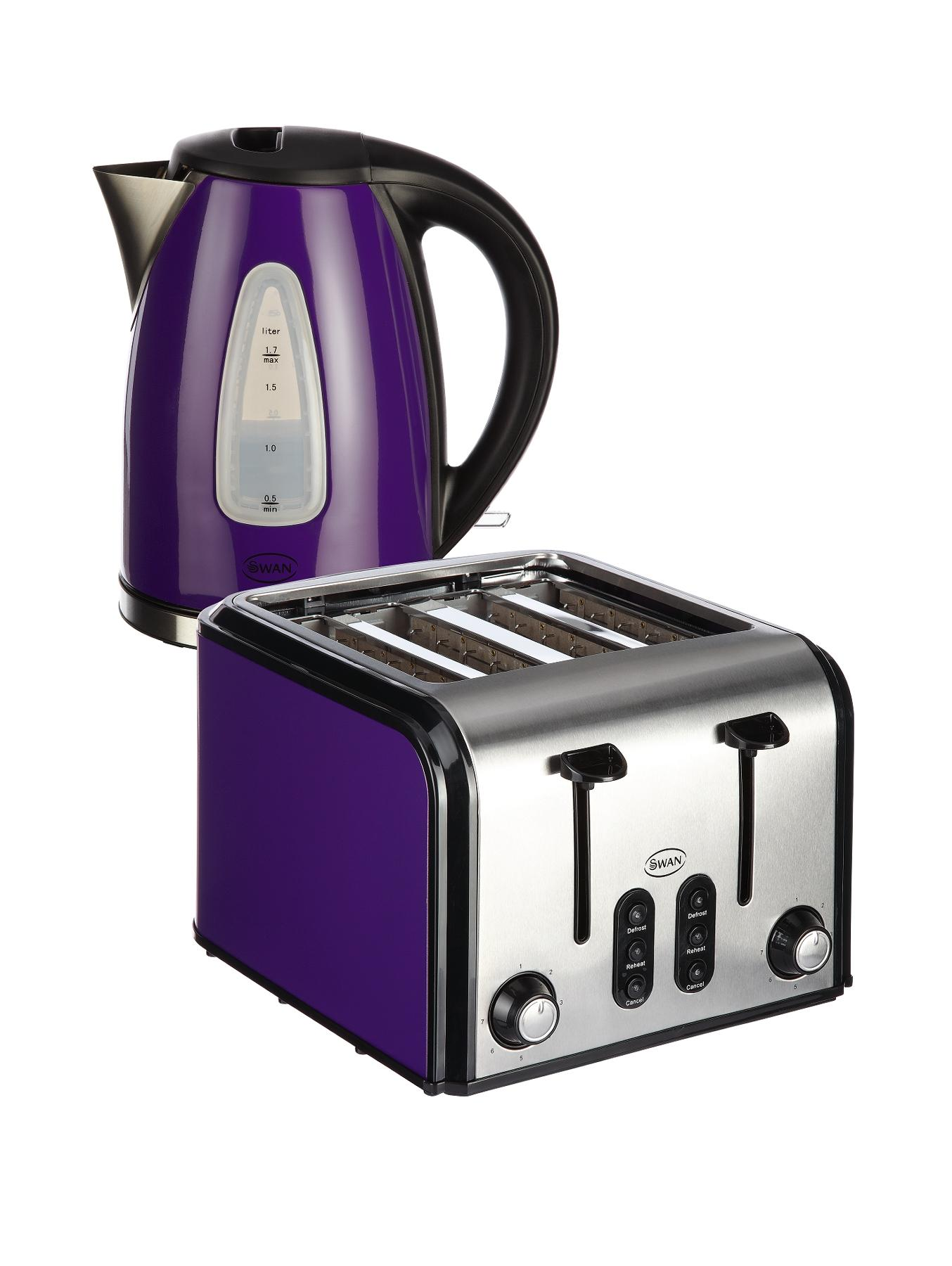 SK13110PU/ST70100PU Fastboil Kettle and 4-Slice Toaster Pack - Purple