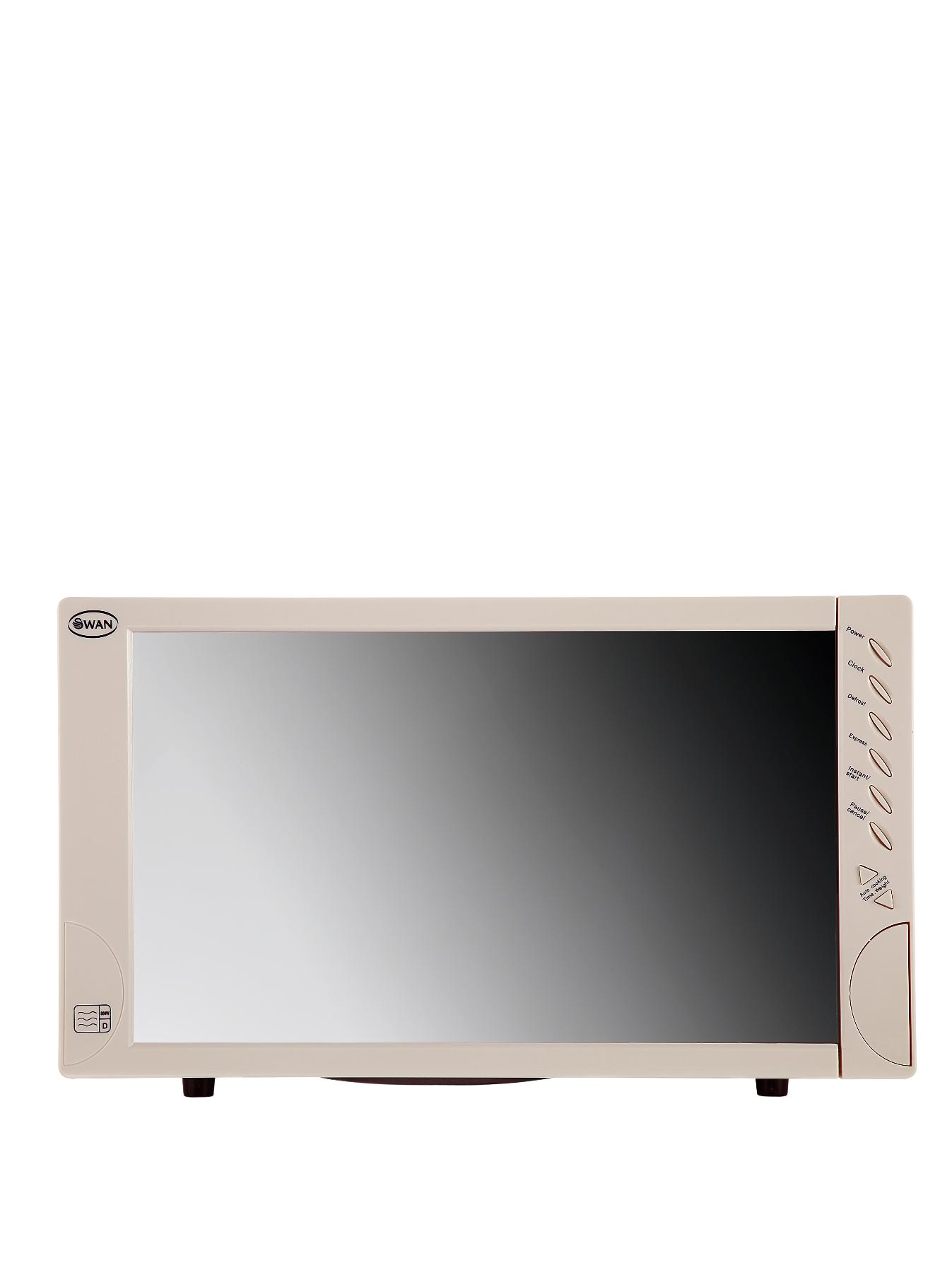 SM2060C 800-watt Mirror Door Microwave - Cream