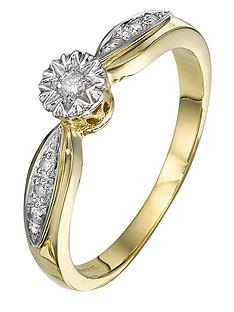 love-diamond-9-carat-yellow-gold-6-point-illusion-set-ring