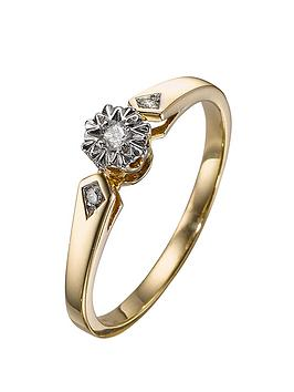 love-diamond-9-carat-yellow-gold-7-point-illusion-solitaire-ring
