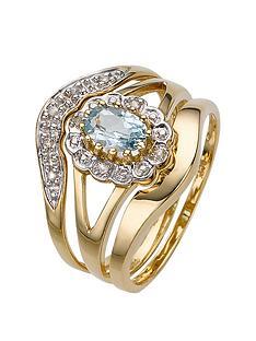 love-gem-9-carat-yellow-gold-5-point-diamond-and-blue-topaz-three-piece-bridal-set