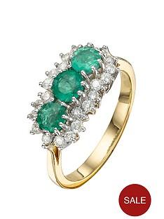 love-diamond-9-carat-yellow-gold-50-point-diamond-and-emerald-eternity-ring
