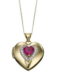 keepsafe-ladies-locket-designed-in-9-carat-gold-with-created-ruby-and-cubic-zirconia-setting