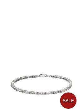 sterling-silver-25-point-diamond-tennis-bracelet