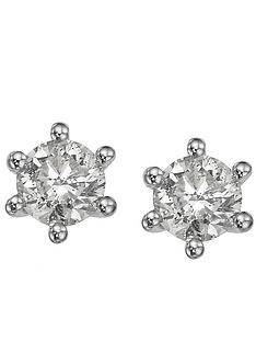 silver-with-25-point-diamond-earrings