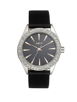 oasis-ladies-black-strap-crystal-watch