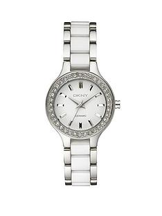 dkny-white-ceramic-and-stainless-steel-ladies-watch