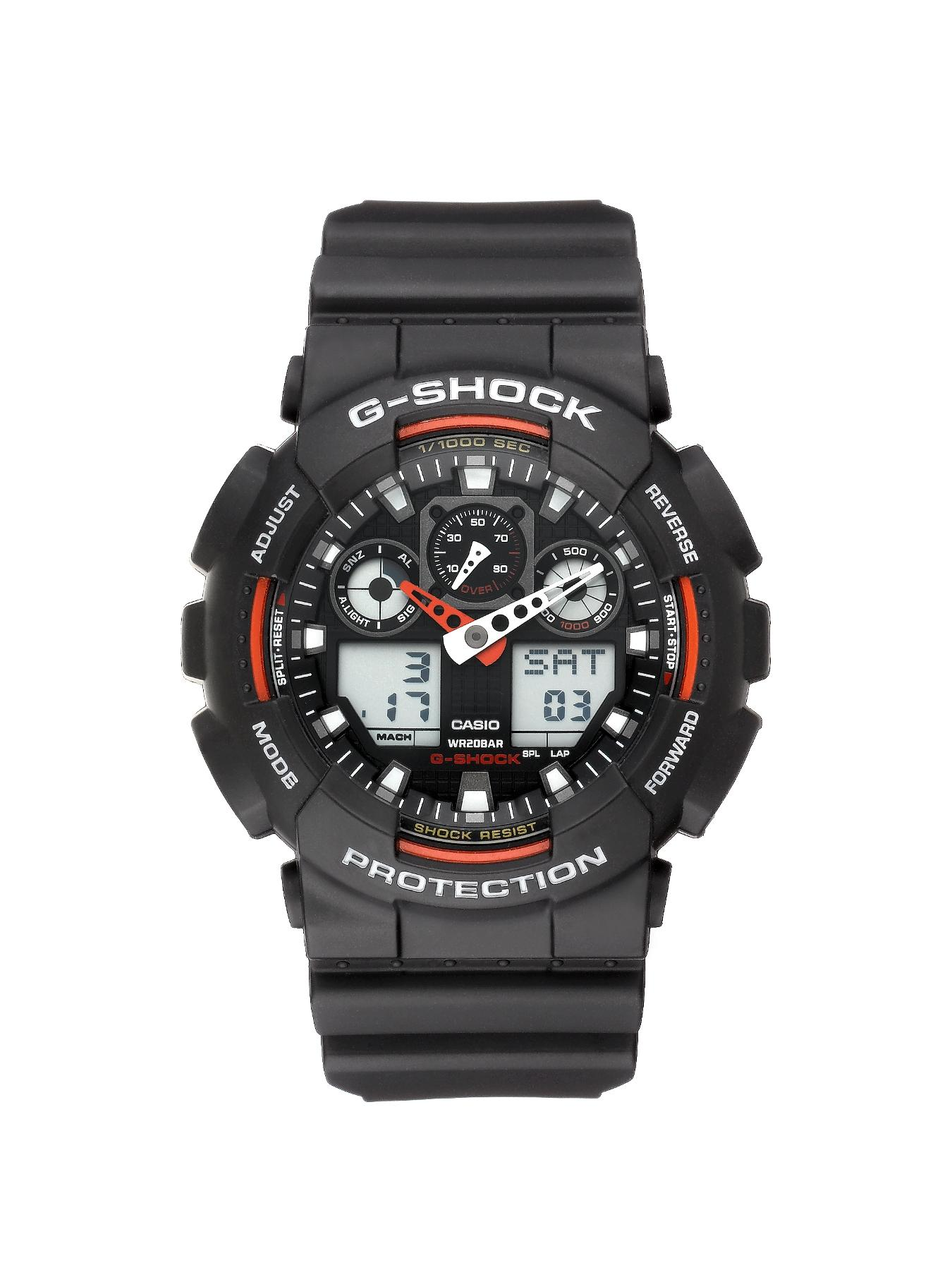 Red and Black Mens Watch