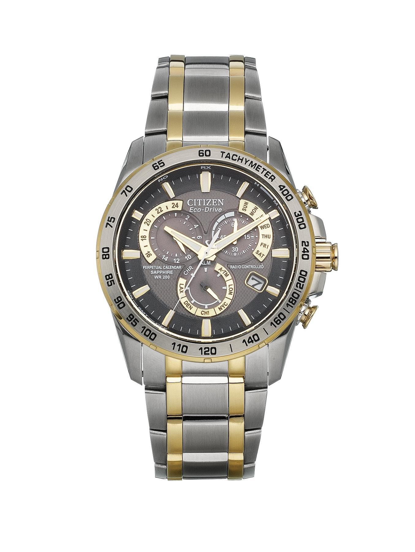 Eco-Drive Perpetual Chrono A.T. Radio-Controlled Bracelet Mens Watch