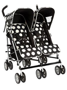 ladybird-spotty-twin-stroller