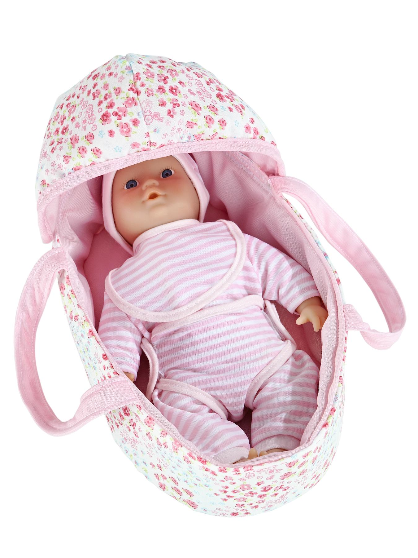 10 inch Baby in Carry Cot