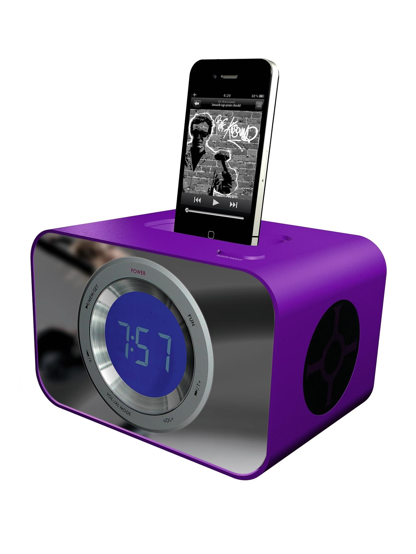 Clock Dock - Purple at Littlewoods