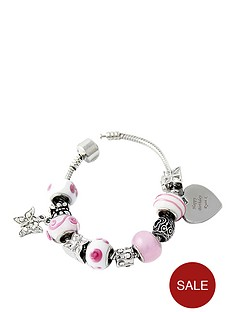personalised-heart-charm-bracelet