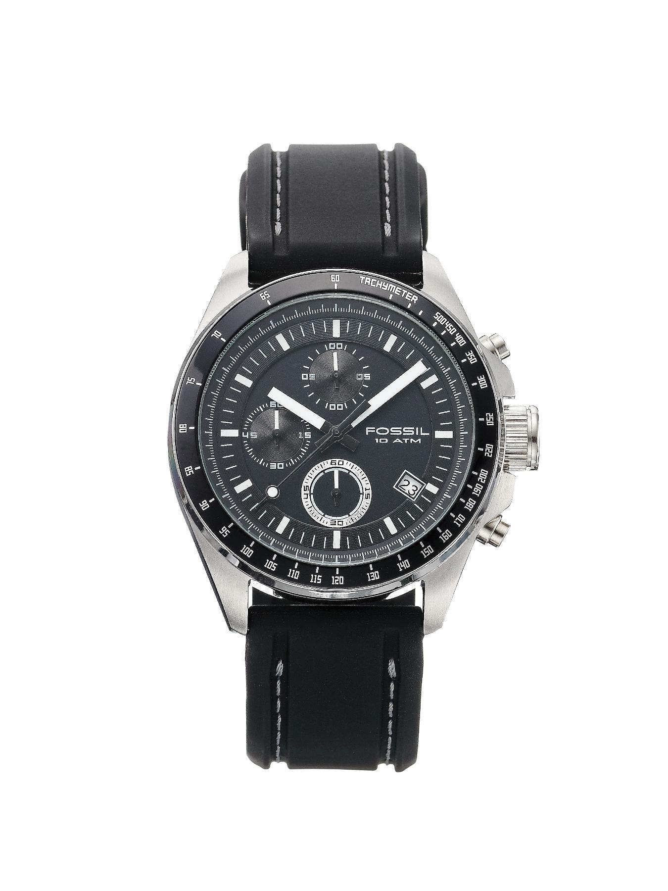 Black Strap Chronograph Mens Watch