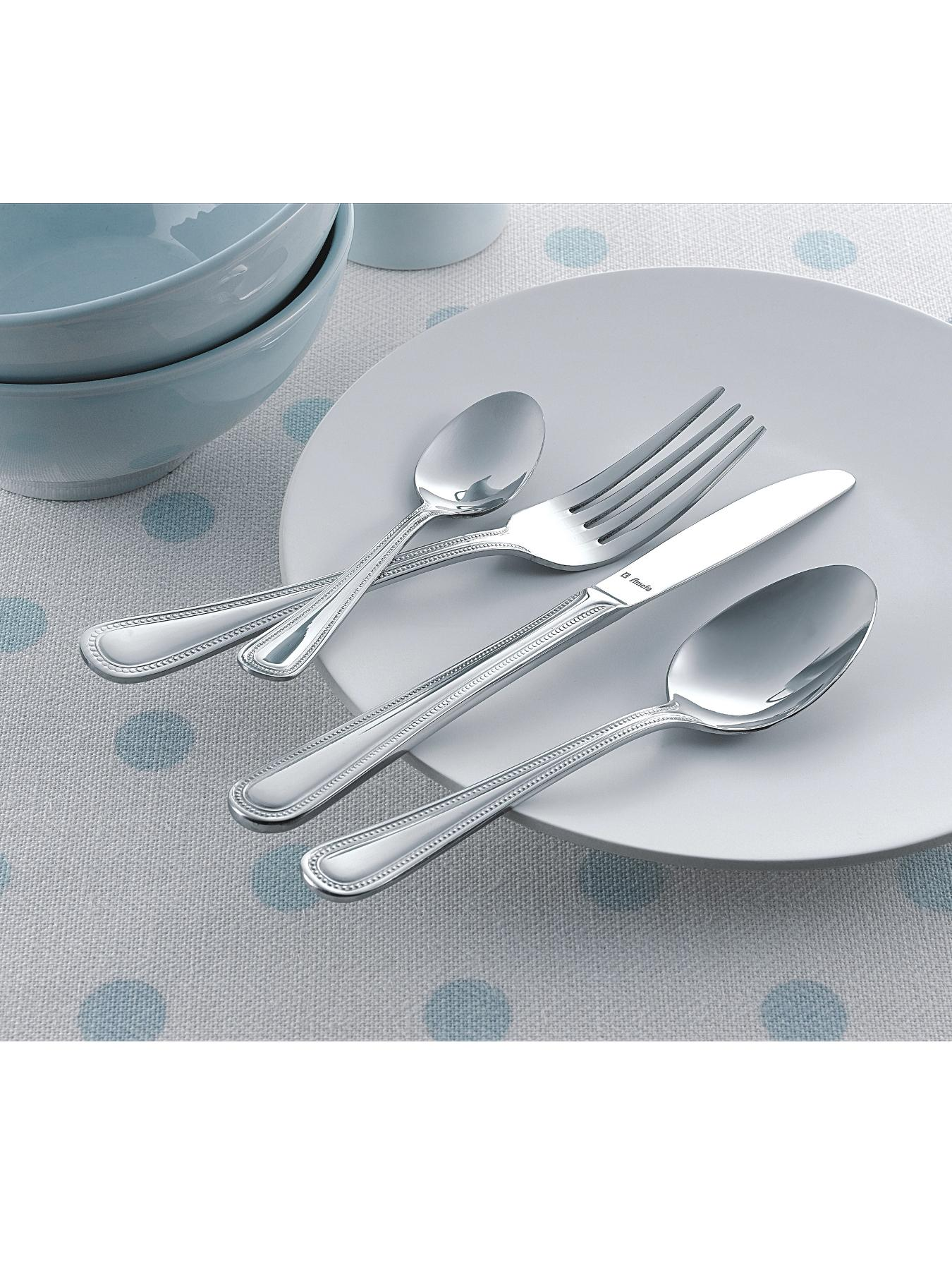 Monogram 32-Piece Bead Cutlery Set