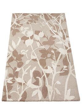 Silhouette Leaf Wool Rug