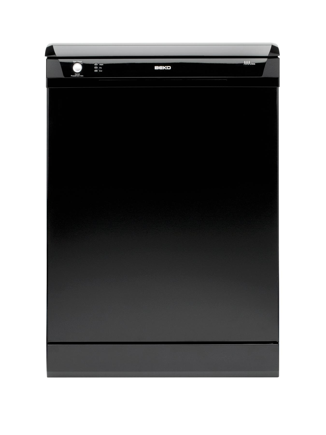 12 Place Full Size Dishwasher - Black