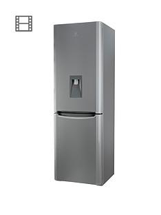 indesit-biaa13pfsiwdl-60cm-fridge-freezer-with-water-dispenser-silver