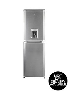 beko-cfd5834aps-55cm-frost-free-fridge-freezer-silver-next-day-delivery