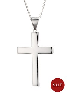 love-silver-sterling-silver-12oz-solid-cross-pendant