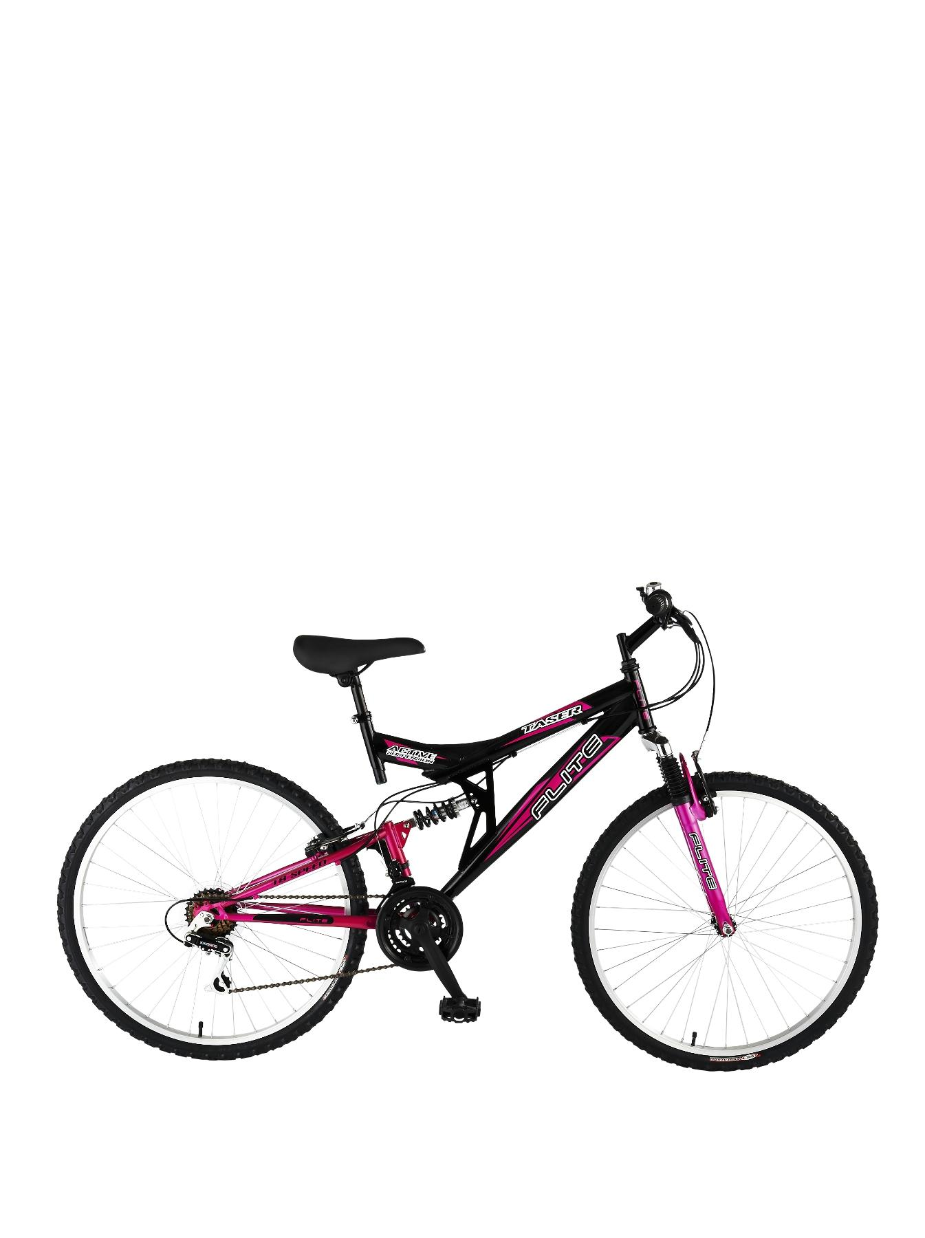 Taser 18 Speed Dual Suspension 26 inch Ladies Bike