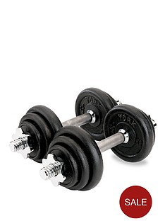 york-20kg-black-cast-iron-dumbbell-set