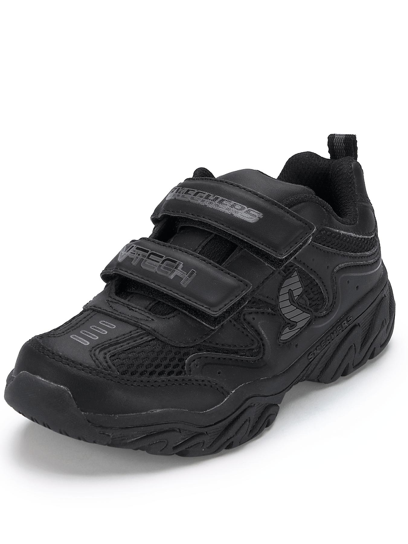 Boys Ragged Dox Trainers, Black