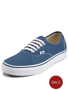 vans-authentic-junior-core-plimsolls-navy