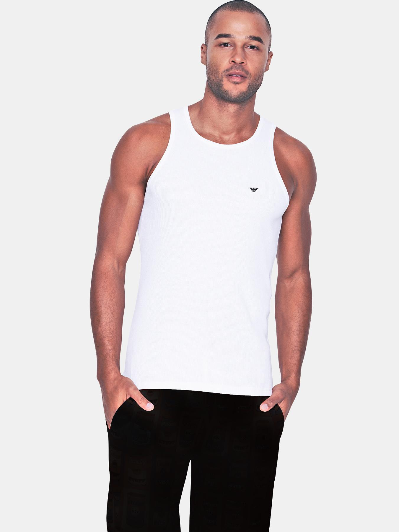 Mens Logo Vest, White