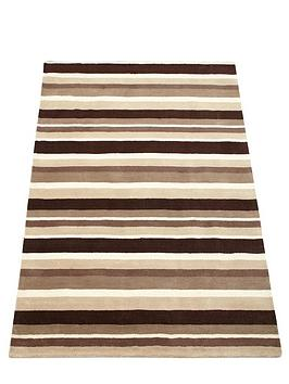 Carved Stripe Wool Rug