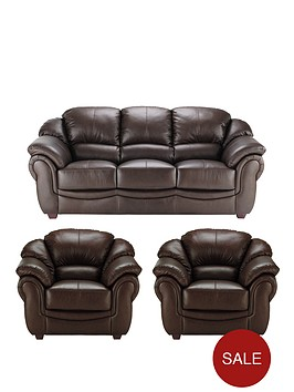 napoli-leather-3-seater-sofa-2-armchairs-buy-and-save