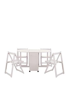 butterfly-table-and-4-white-chairs