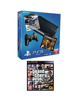 playstation-3-500gb-console-with-grand-theft-auto-5-uncharted-3-goty-edition-and-gran-turismo-5-academy